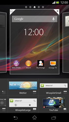 Sony Xperia V - Startanleitung - Installieren von Widgets und Apps auf der Startseite - Schritt 4