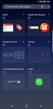 Samsung Galaxy S8 Plus - Prise en main - Installation de widgets et d