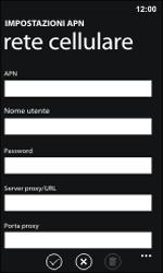 Nokia Lumia 800 / Lumia 900 - Internet e roaming dati - Configurazione manuale - Fase 11