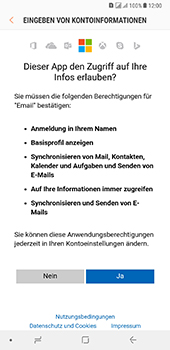 Samsung Galaxy A8 Plus (2018) - E-Mail - Konto einrichten (outlook) - 9 / 14