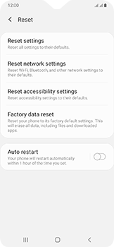 Samsung Galaxy A20e - Device - Factory reset - Step 7