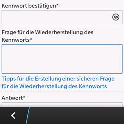 BlackBerry Q10 - Apps - Konto anlegen und einrichten - 2 / 2