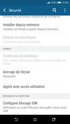 HTC Desire 626 - Sécuriser votre mobile - Personnaliser le code PIN de votre carte SIM - Étape 5