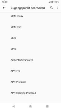 Sony Xperia XZ2 Premium - Android Pie - MMS - Manuelle Konfiguration - Schritt 12