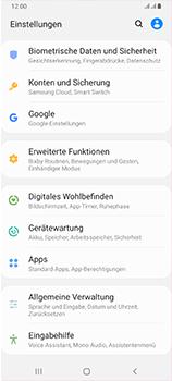 Samsung Galaxy A70 - Startanleitung - So aktivieren Sie eine SIM-PIN - Schritt 4