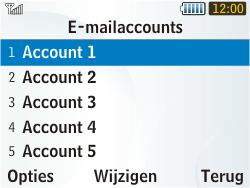 Samsung S3350 Chat 335 - E-mail - Handmatig instellen - Stap 10