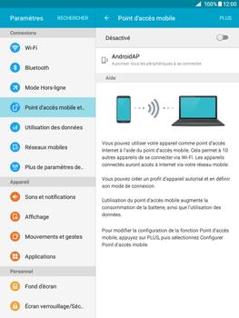 Samsung Galaxy Tab A - Internet et connexion - Partager votre connexion en Wi-Fi - Étape 6