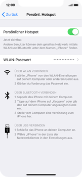 Apple iPhone X - Internet - Mobilen WLAN-Hotspot einrichten - 0 / 0