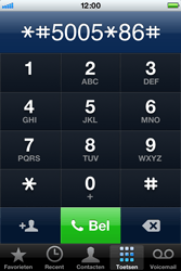 Apple iPhone 4 S - Voicemail - handmatig instellen - Stap 4