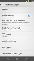Sony Xperia Z1 Compact - Anrufe - Rufumleitungen setzen und löschen - Schritt 5