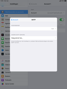 Apple iPad Mini 4 - iOS 12 - E-mail - e-mail instellen: IMAP (aanbevolen) - Stap 19