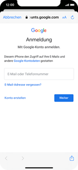 Apple iPhone XS - iOS 14 - E-Mail - 032a. Email wizard - Gmail - Schritt 7