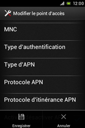Sony ST21i Xperia Tipo - MMS - Configuration manuelle - Étape 15
