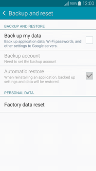 Samsung Galaxy Note 4 - Mobile phone - Resetting to factory settings - Step 5
