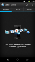Sony Xperia T - Software - Installing software updates - Step 7