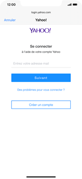 Apple iPhone XR - iOS 13 - E-mail - 032b. Email wizard - Yahoo - Étape 6