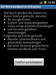 Samsung S5570 Galaxy Mini - Fehlerbehebung - Handy zurücksetzen - Schritt 8