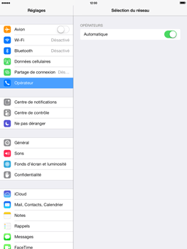 Apple iPad Air - Réseau - Sélection manuelle du réseau - Étape 4