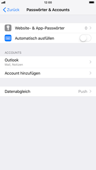 Apple iPhone 8 Plus - iOS 12 - E-Mail - Konto einrichten (outlook) - Schritt 10