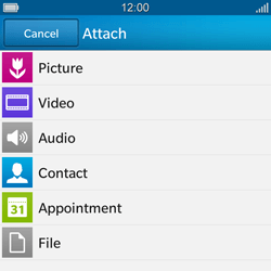 BlackBerry Q10 - E-mail - Sending emails - Step 12