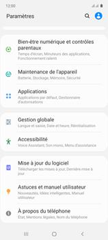 Samsung Galaxy Note 10 Lite - Aller plus loin - Restaurer les paramètres d'usines - Étape 4