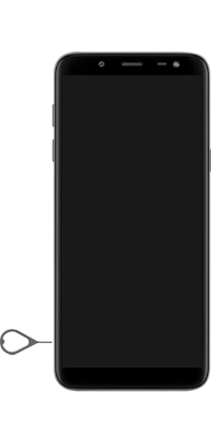 Samsung Galaxy J6 - Premiers pas - Insérer la carte SIM - Étape 6