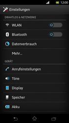 Sony Xperia T - Internet und Datenroaming - Deaktivieren von Datenroaming - Schritt 4