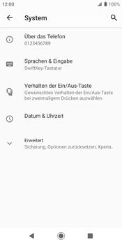 Sony Xperia XZ2 - Android Pie - Fehlerbehebung - Handy zurücksetzen - Schritt 7