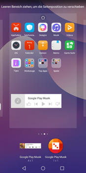 Huawei Y7 (2018) - Startanleitung - Installieren von Widgets und Apps auf der Startseite - Schritt 10