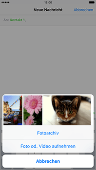 Apple iPhone 6 Plus mit iOS 9 - MMS - Erstellen und senden - Schritt 11