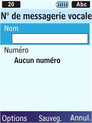 Samsung S5610 Primo - Messagerie vocale - configuration manuelle - Étape 8
