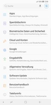 Samsung Galaxy Note9 - Fehlerbehebung - Handy zurücksetzen - 6 / 12