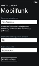 Nokia Lumia 800 / Lumia 900 - Netzwerk - Manuelle Netzwerkwahl - Schritt 5