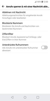 LG G6 - Android Oreo - Anrufe - Anrufe blockieren - Schritt 6