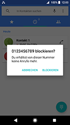 Sony Xperia XA2 - Anrufe - Anrufe blockieren - 6 / 8