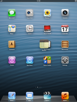 Apple iPad Retina - Getting started - Personalising your Start screen - Step 3