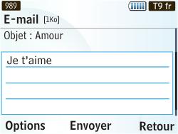 Samsung S3350 Chat 335 - E-mail - envoyer un e-mail - Étape 7