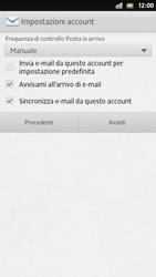 Sony Xperia S - E-mail - Configurazione manuale - Fase 14