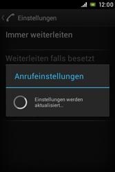 Sony Xperia Miro - Anrufe - Rufumleitungen setzen und löschen - 8 / 9
