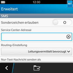 BlackBerry Q5 - SMS - Manuelle Konfiguration - 9 / 11