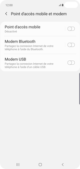Samsung Galaxy S10 Plus - Internet et connexion - Utiliser le mode modem par USB - Étape 8