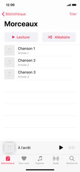 Apple iPhone 11 Pro - Photos, vidéos, musique - Ecouter de la musique - Étape 5