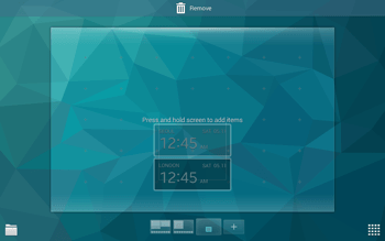 Samsung T805 Galaxy Tab S - Getting started - Installing widgets and applications on your start screen - Step 6