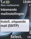 Nokia 2330 classic - E-mail - e-mail instellen: POP3 - Stap 20