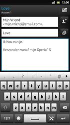 Sony LT26i Xperia S - E-mail - E-mail versturen - Stap 9