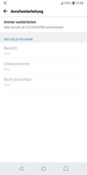 LG G6 - Android Oreo - Anrufe - Rufumleitungen setzen und löschen - Schritt 9
