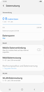 Samsung Galaxy Note9 - Android Pie - Internet und Datenroaming - Prüfen, ob Datenkonnektivität aktiviert ist - Schritt 6