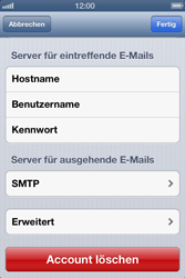 Apple iPhone 4S - E-Mail - Manuelle Konfiguration - Schritt 17