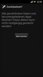 Sony Ericsson Xperia Ray mit OS 4 ICS - Fehlerbehebung - Handy zurücksetzen - Schritt 9