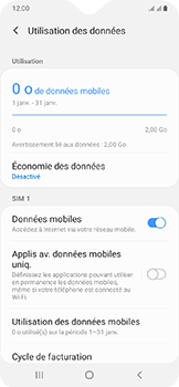 Samsung Galaxy A20e - Internet et connexion - Désactiver la connexion Internet - Étape 6
